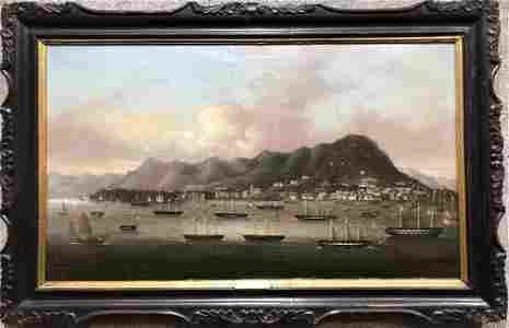 Painting of Hong Kong Harbor, circa 1850