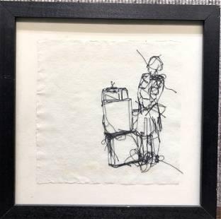 Thread drawing by Emma Cowan
