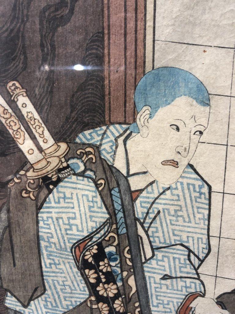 Japanese woodblock print by Kunisada - 3