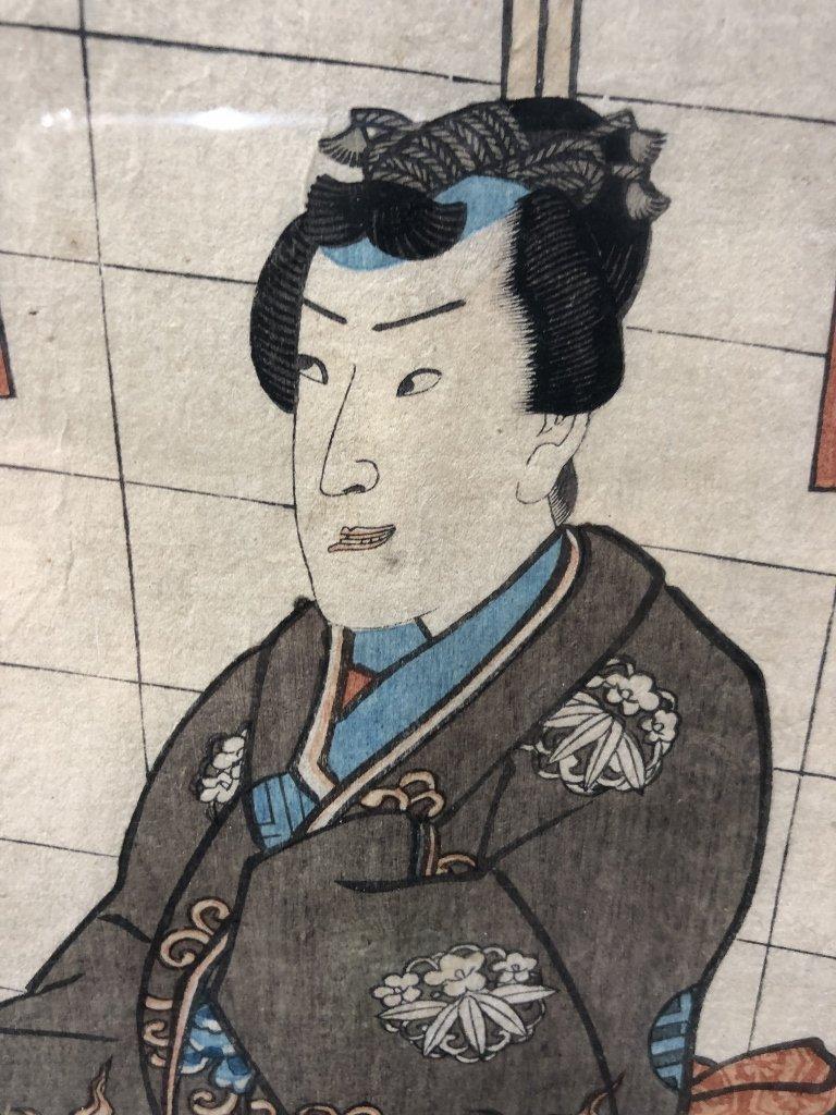 Japanese woodblock print by Kunisada - 4