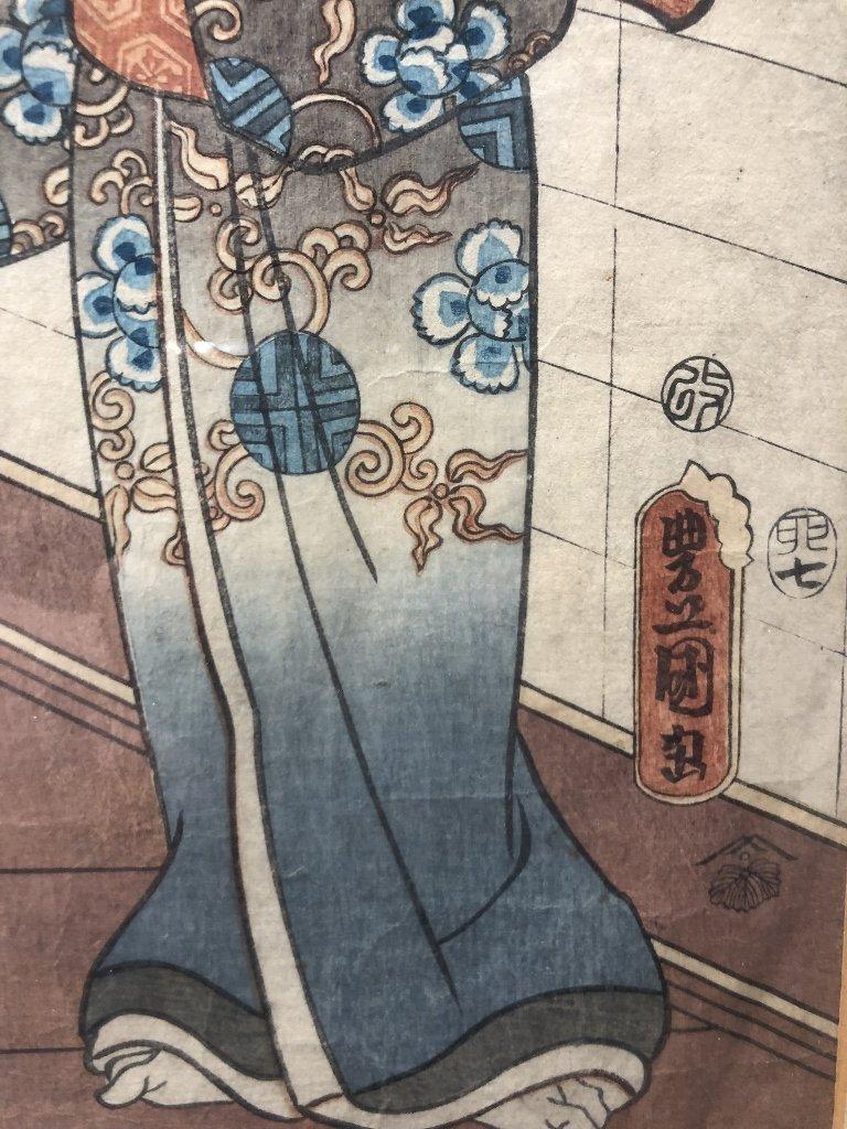 Japanese woodblock print by Kunisada - 7