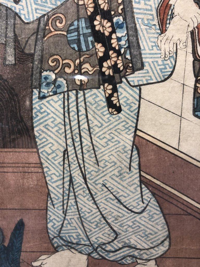 Japanese woodblock print by Kunisada - 8