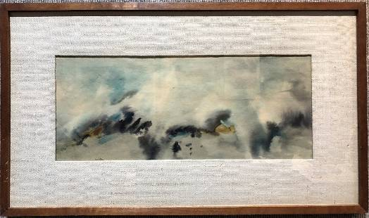Watercolor abstraction by Margaret Layton