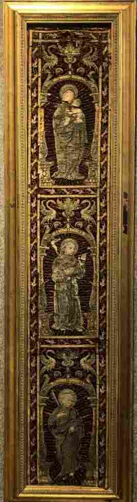 """16th/17th century Ecclesiastical embroidery.53.5"""" x 10"""""""