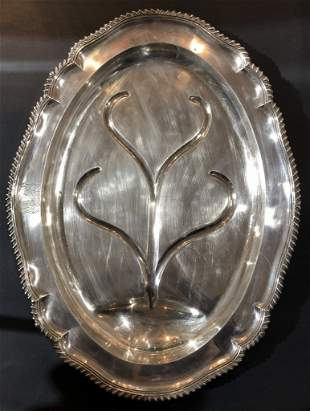 Georgian silver meat tray,William Pitts, 18thc 114 troy
