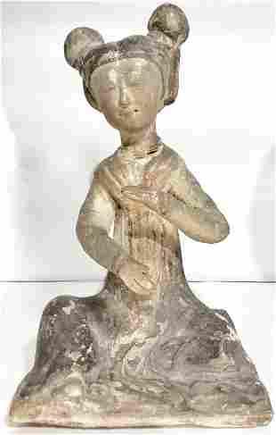 "Early Chinese ceramic figurine.9"""