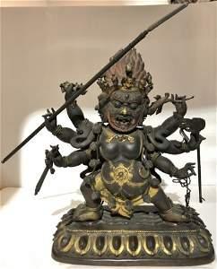 "Tibet gilt copper Buddha, 18th/19th century, 15""high"