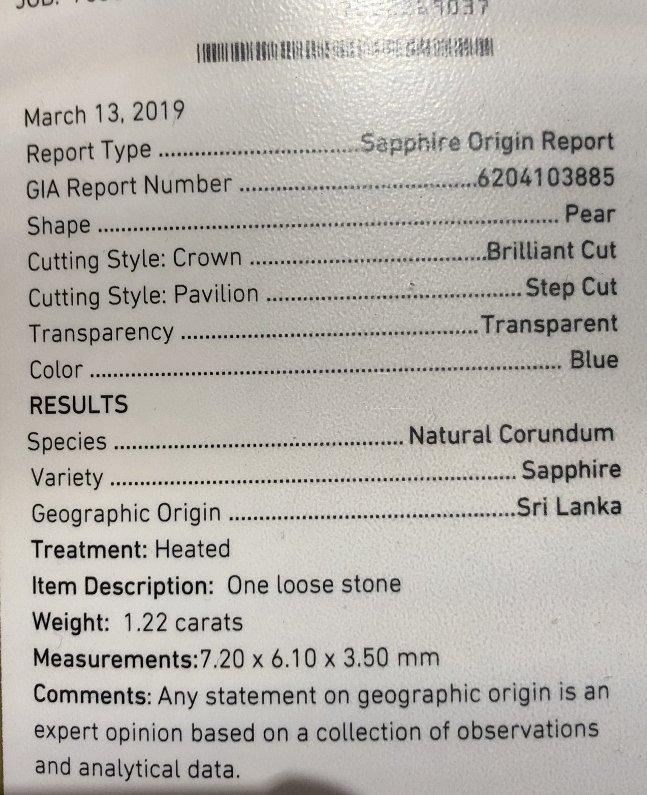 One 2.06 carat diamond & sapphire ring,GIA report - 10