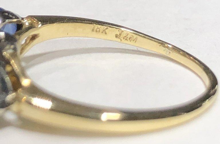 One 2.06 carat diamond & sapphire ring,GIA report - 9