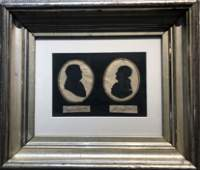Autographs of Franklin and Jefferson, silhouettes