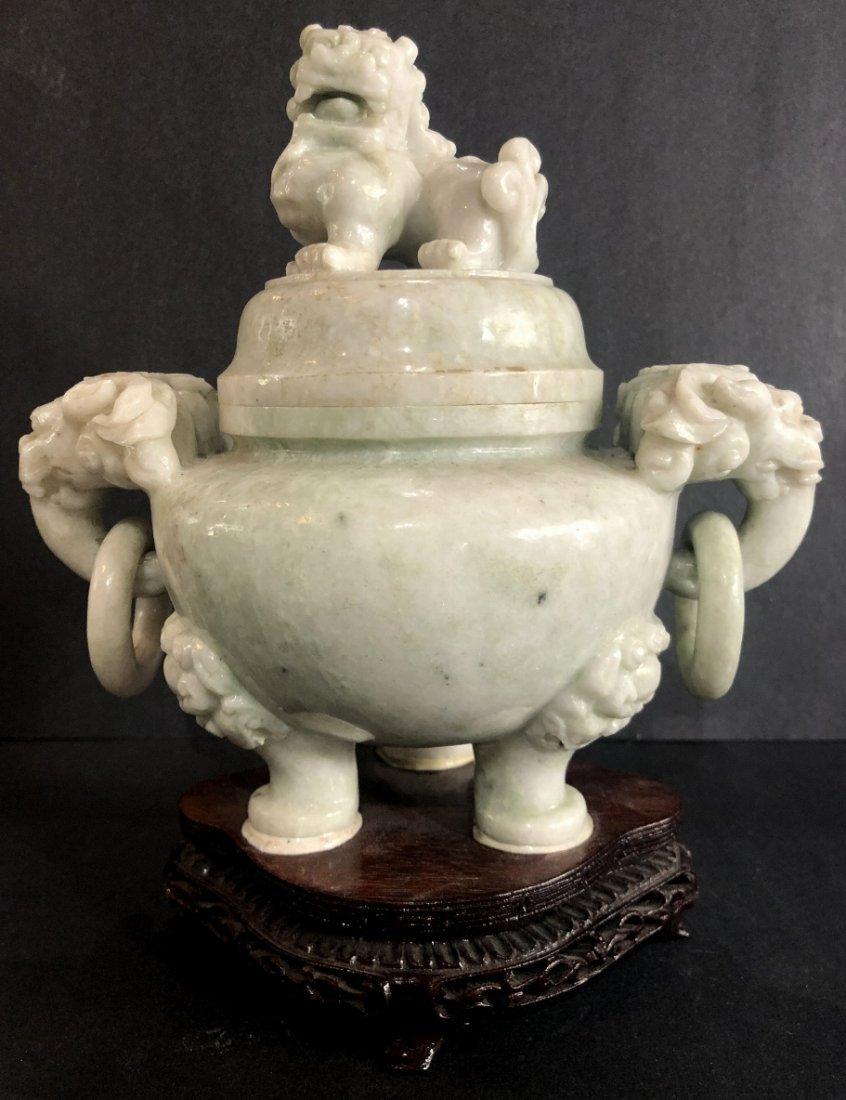 Chinese hardstone censer, c.1965