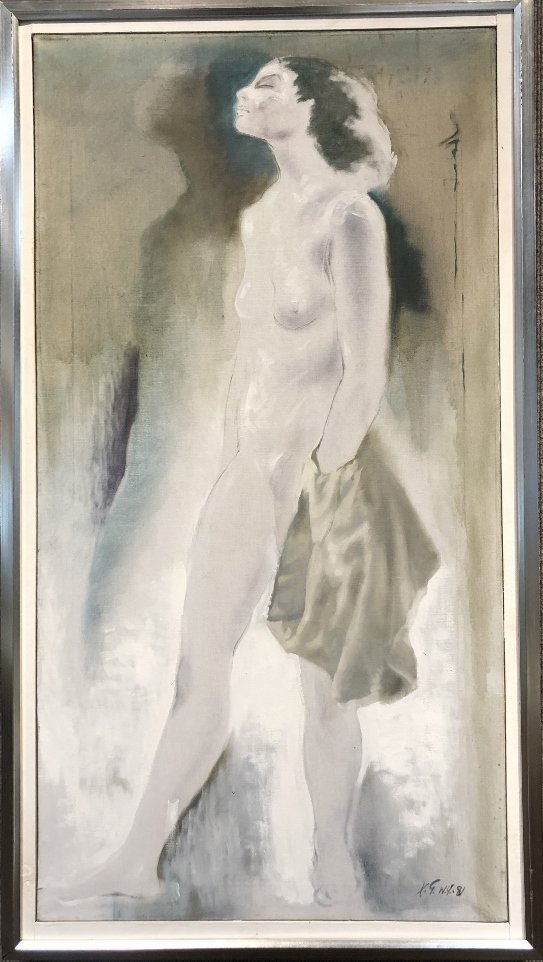 Painting of nude by Xavier Gonzalez