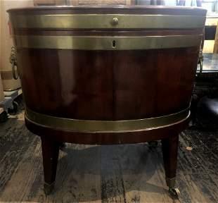 19th century wood wine cellarette