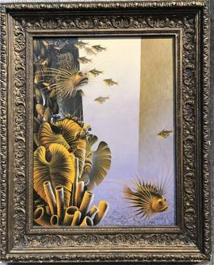 Ptg of fish by Russian artist, Alexandr Fedorov