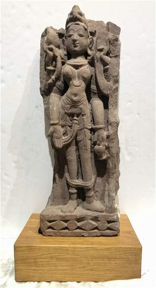 Indian stone sculpture, poss arch temple fragment