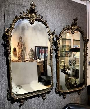 Pair of 18th century gilt wood mirrors