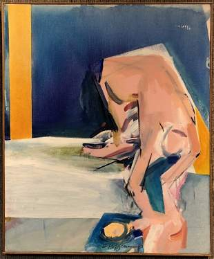Modern painting signed E.Hoffman, 1980