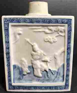 Chinese porcelain tea caddy c1800