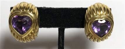 18k amethyst earrings by Fred, 18.3 dwts