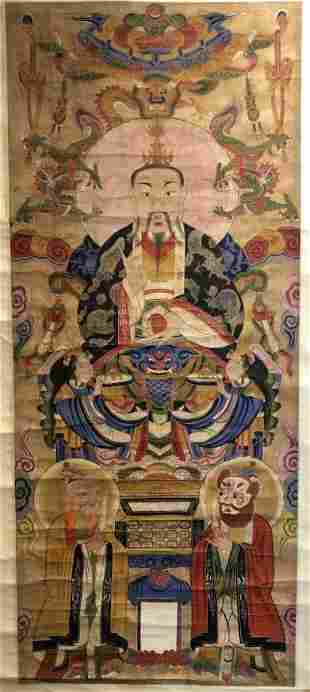 Chinese scroll painting possibly Tibetanc1930