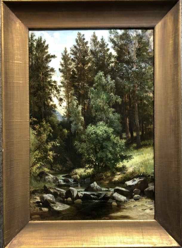 Painting of woods attrib Ivan Shishkin,19thc