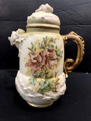 Porcelain fish handled ewerc1900