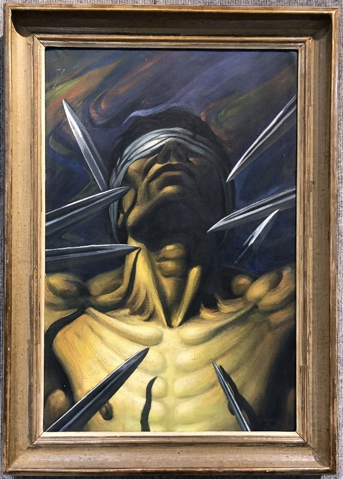 Painting of Christ by Navarro, 1967