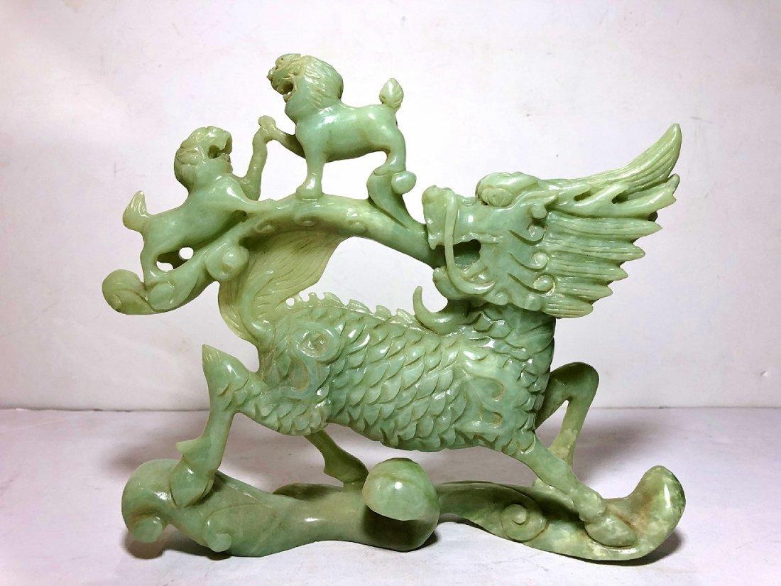 Chinese jade carving of dragon,circa 1980