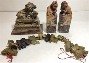 Chinese soapstone items