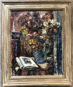 1945 painting by David Burliuk from Grossberg Estate