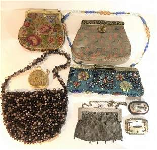 Eight purses 19th20th century