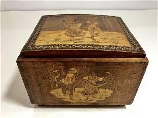 Wood inlaid Italian box575 x 475 x 425 inches