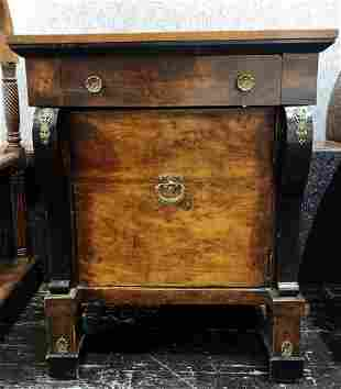 Empire style small table with drawer19th century