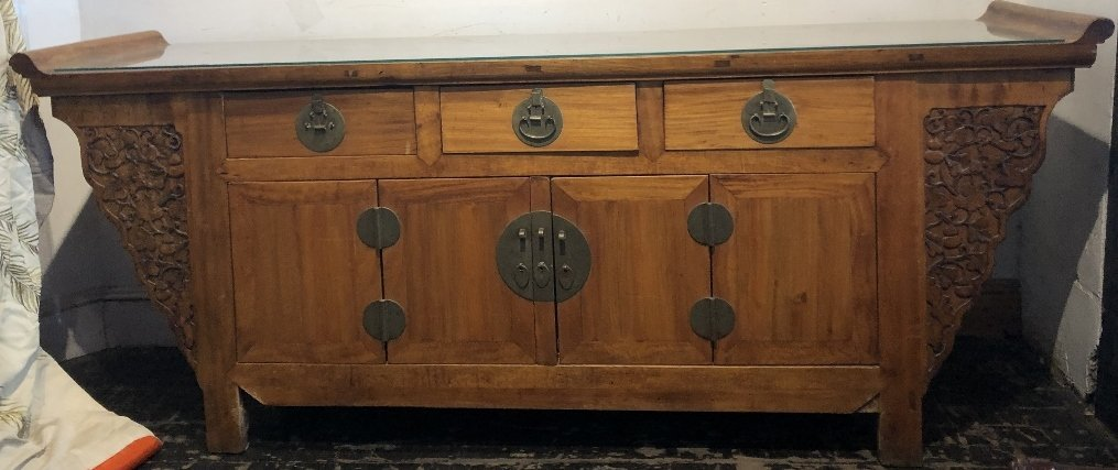 Chinese wood sideboard