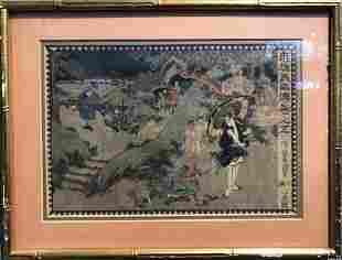 Small Japanese woodblock print by Toyokuni II