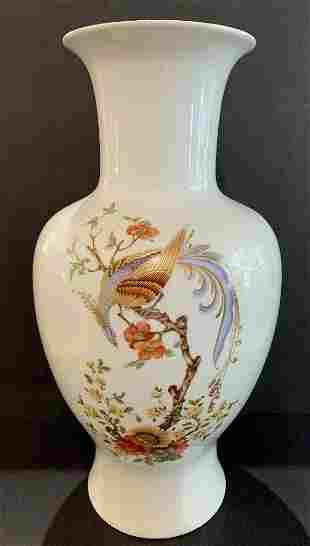 Kaiser porcelain vase with bird decorationc1950
