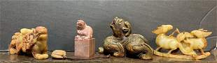 Five pieces of Chinese hardstone carving