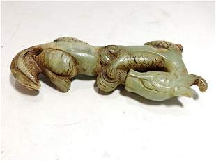 Chinese jade carving of dragon