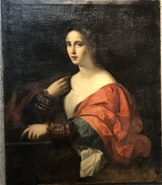 Old Master painting of 16th century woman,c1650-1750