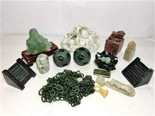 Miscel Chinese stone items
