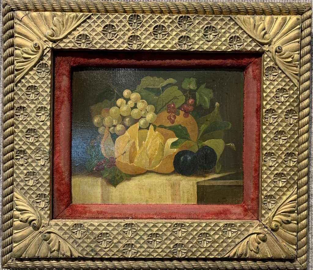19thc still life painting of fruit
