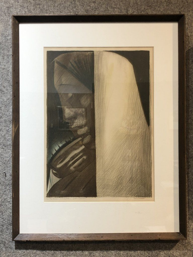 Large litho of Mexican mother and child by Jean Charlot