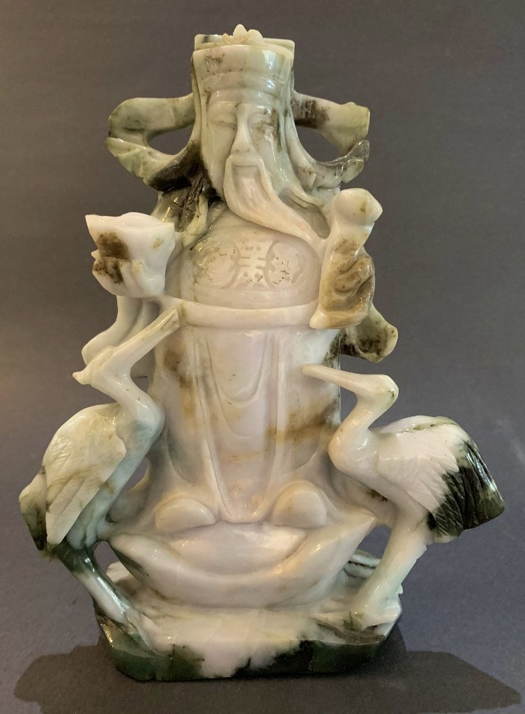 Chinese carved jade Immortal
