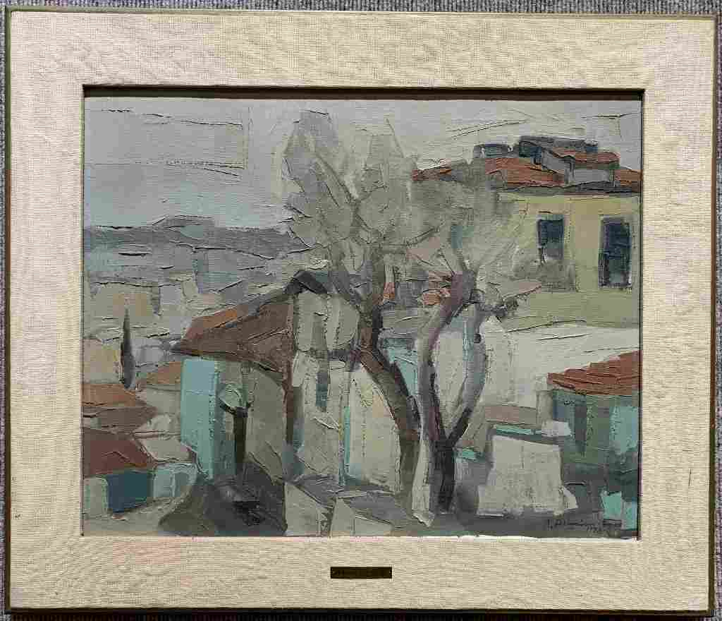 Rare painting of village by Bedros Aslanian(Egyptian)