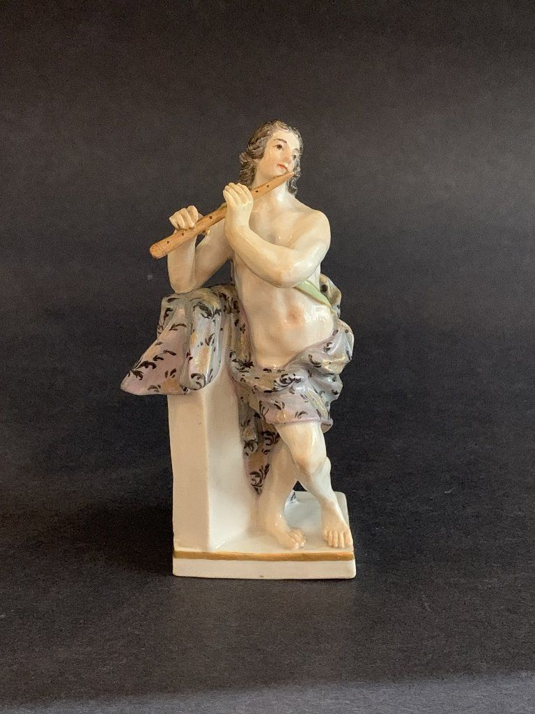 18th/19th century Meissen figure playing flute