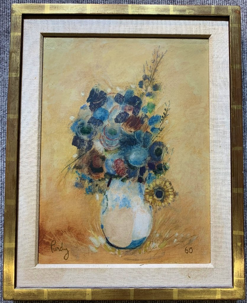 Still life painting of flowers by Donald Purdy