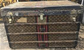 "Old Louis Vuitton trunk, 35"" wide"