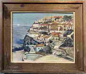 Painting of Colares Portugal by Bert, circa 1965
