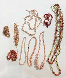 Coral and simulated coral jewelry
