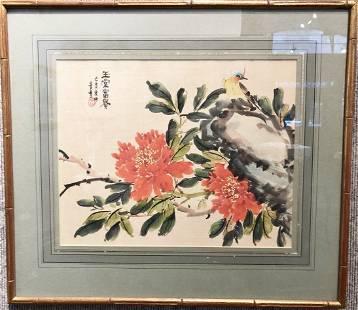 Chinese watercolorflowers Jing Xue or Jing Feng